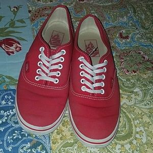 Shoes - Red vans